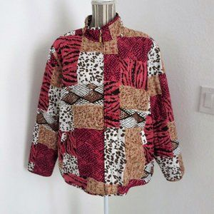 Allison Daley Quilted Jacket Rose Tan Like New